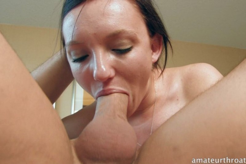 Bukkake gaggers rough throat