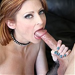 Extreme Deepthroat For Redhead Milf Lya Pink