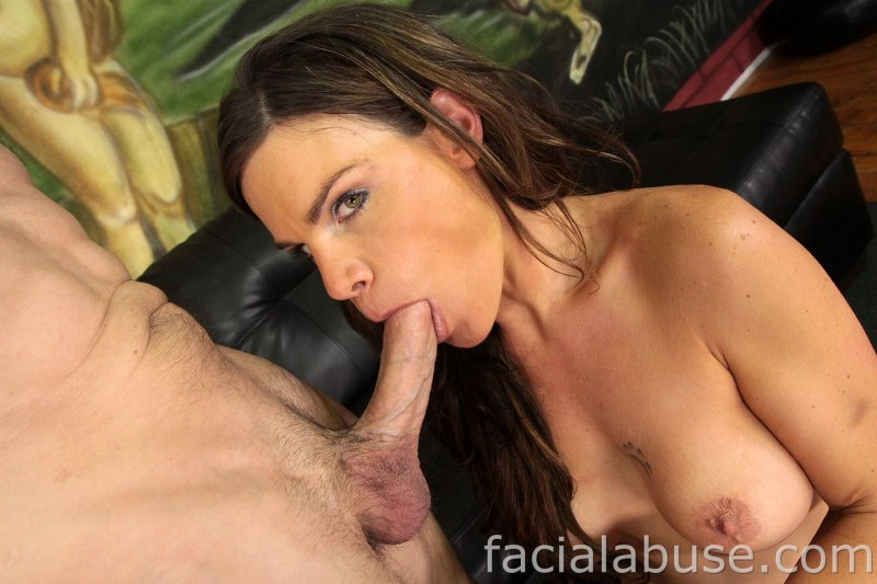 Milf throatfuck and facial