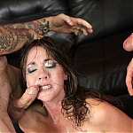 Amateur Office Worker Gets Her Throat Fucked and Ass Drilled In Extreme Porn Threesome