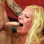 Blonde MILF Slut Kylie Smith Balls Deep Throat Fucking