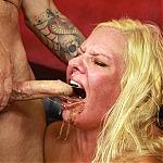 Blonde MILF Slut Kylie Smith Balls Deep Throat Fucking