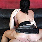 Amateur Brunette Does First Time Deep Throat