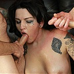 Horny Hot MILF Kitty Cyberstar Gets Throat Fucked With Two Cocks