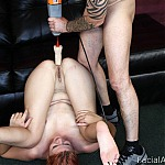 Redhead Whore Gets Her Face Fucked Balls Deep