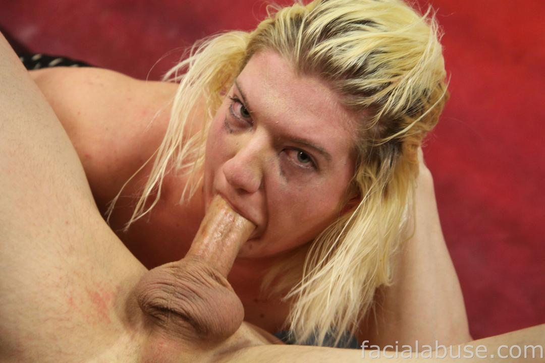 aggressive throat fucking threesome with amateur blonde slut holly