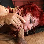 Young Redhead Slut Beth Gets Her Throat Pummeled By Old Man Bootleg