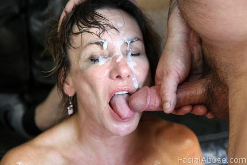 Mature wife and hard fucking with facial