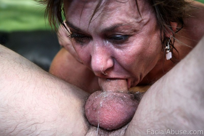 Ladyboy pissing in own mouth