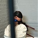 BDSM Style Deep Throat For Girl In Straitjacket