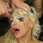 Throat Fucking Blonde Slut Gags On Big Hard Cock