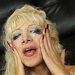 Throat Fucking Blonde Slut Gags On Big Hard Cock