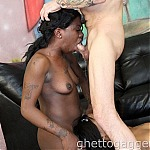 Two Sassy Black Sisters Get Their Throats Fucked