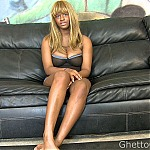 Busty Ebony Slut Gets Face Fucked Deep and Hard