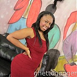 Huge Ebony Ass Whore Cherise Roze Gets Skull Fucked At Ghetto Gaggers