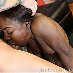 Ebony Face Fucking and Deep Anal Sex For Black Slut Paradise