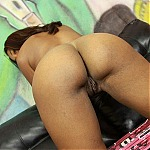 Sexy Ebony Amateur Summer Knight Ghetto Gagging Two Big White Cocks