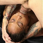Ebony Whore Kandi Gurl Throat Fucked By Two White Cocks
