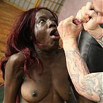 Dark Skinned Black Whore Alexis Mitchell In Brutal Interracial Skull Fuck
