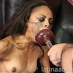 Tiny Latina Isabella Gonzalez Does Brutal Face Fuck