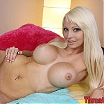 Busty Blonde Rikki Six Swallows A Big Hard Cock Deep