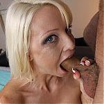 Busty Blonde Rikki Six Swallows A Big Hard Cock Deep