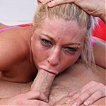 Big Boobs Blonde Heidi Hollywood Eagerly Deepthroating Hard Cock