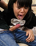 Cute Asian Maid Is Forced To Face Fuck and Take Cum In Her Throat