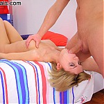Hot Blonde Teen Gags and Chokes On Big Cock