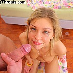 Blonde Teen With Blue Eyes Gags On Cock At Young Throats