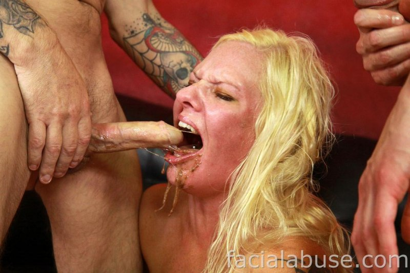 Deepthroat gagging puke video