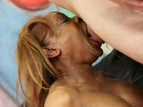 Black chicks gag on white cock rough sex