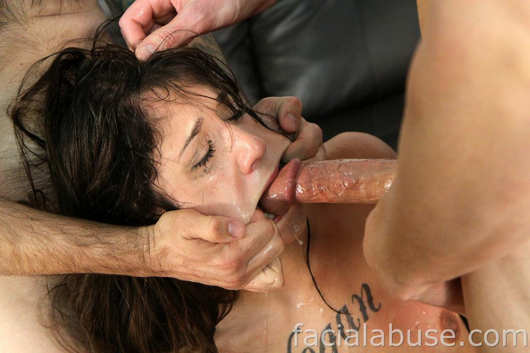 Brutal deep throat blowjob