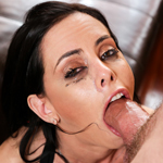 Slut Porn Star Brandy Aniston Gags On A Huge Cock