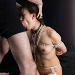 Asian Girl Yui Kyouno Is Tied Up In Rope and Force Fed Hard Cock