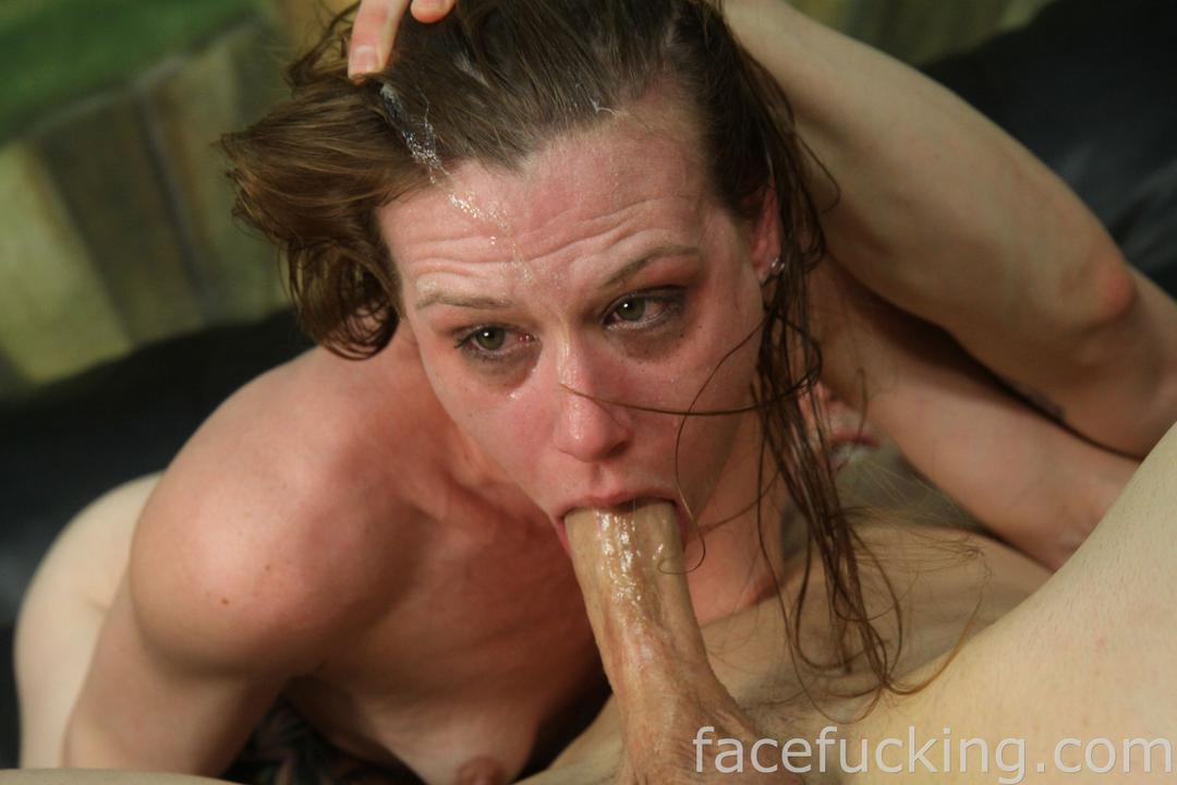 Skinny slut gets facefucked and deepthroat abused 10