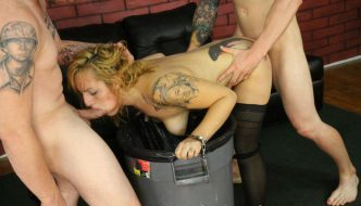 Brutal Throat Fuck Party With Latin Slut Hunter Paige