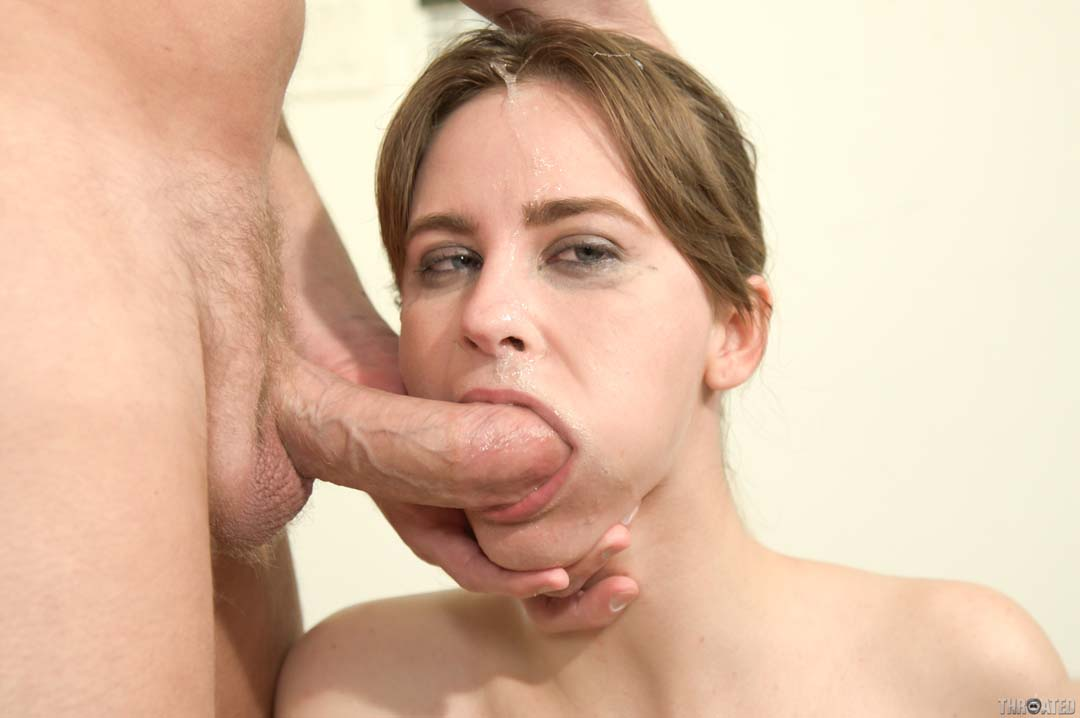 Extreme deepthroating amp gagging on dildos