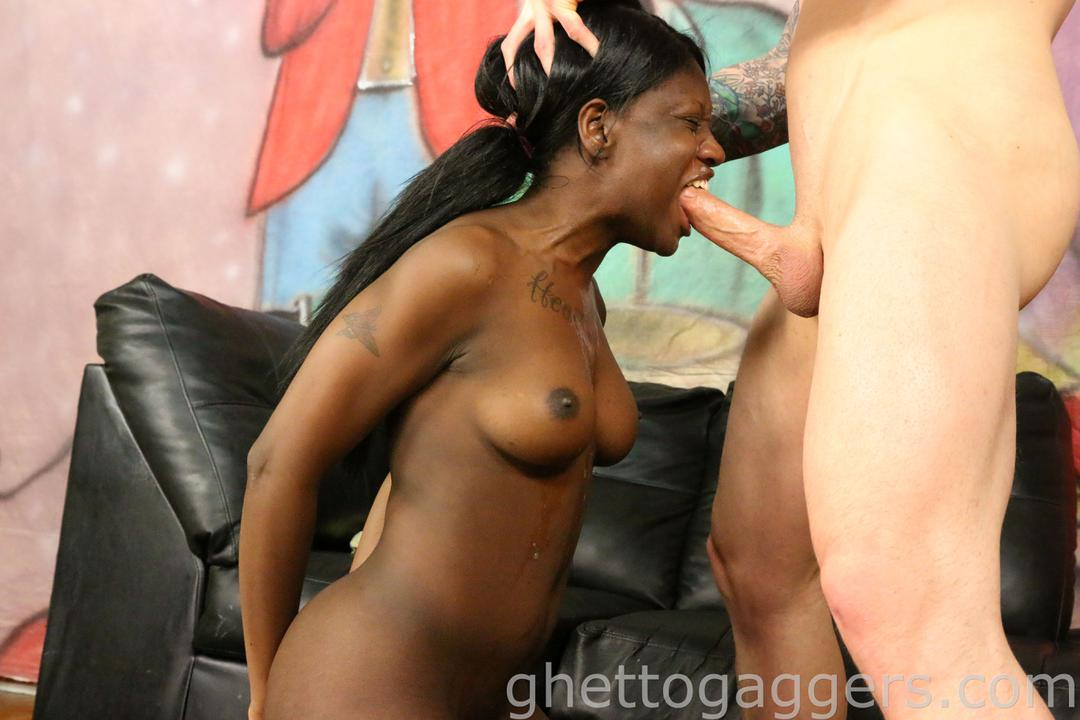 Ebony teen rough anal