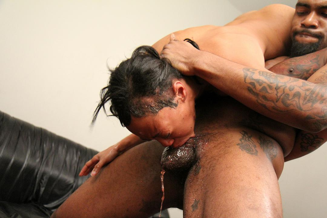 Throat black fuck girl