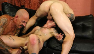 Submissive Bitch Amelia Dire Is Throat Fucked & Double Penetrated In Nasty Threesome