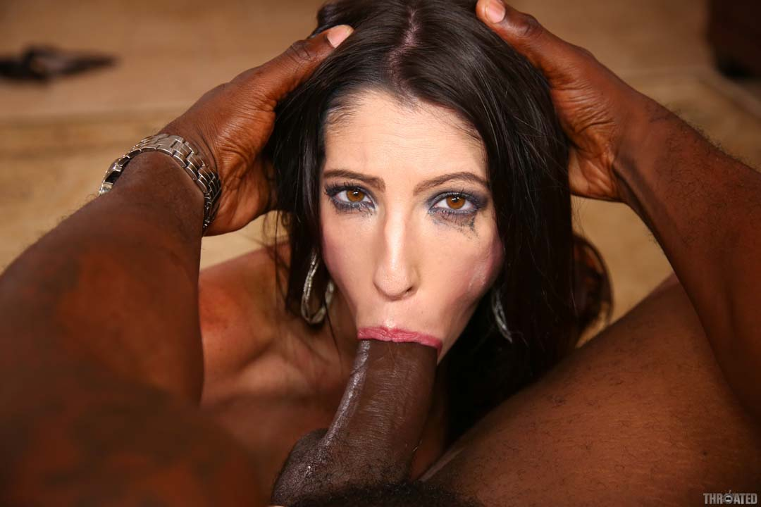 Deepthroat black cock party
