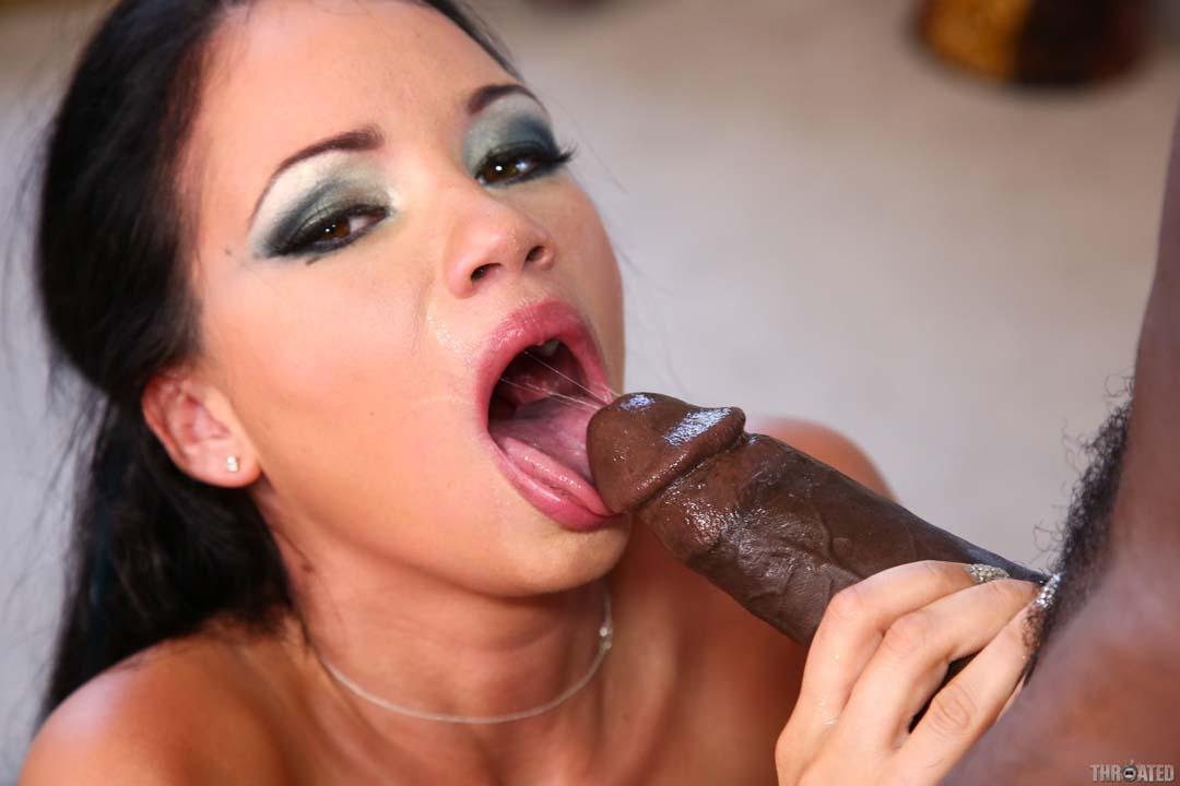 Hot Porn Star Raven Bay Deep Throats A Big Black Cock At -2305