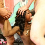 Petite Little Black Slut Penelope Gets Her Throat & Ass Slammed By Nasty White Boys
