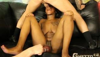 Olivia Rain 2 – Teen Ebony Gagging Whore Back For More