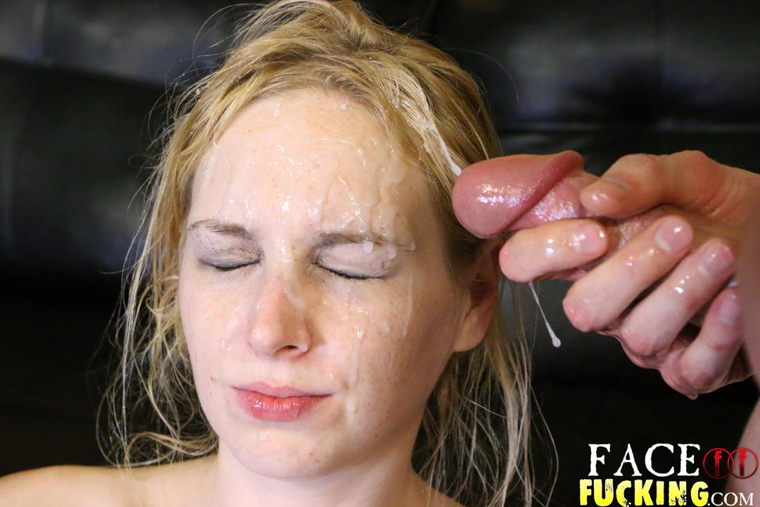 Teen gets her face and specs covered in jizz - 1 1