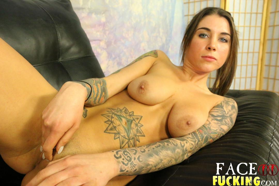 image Felicity feline face fucked in her roughest scene ever