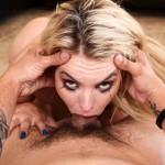 Sexy Blonde Adult Film Star Keira Nicole Deep Throat Gags