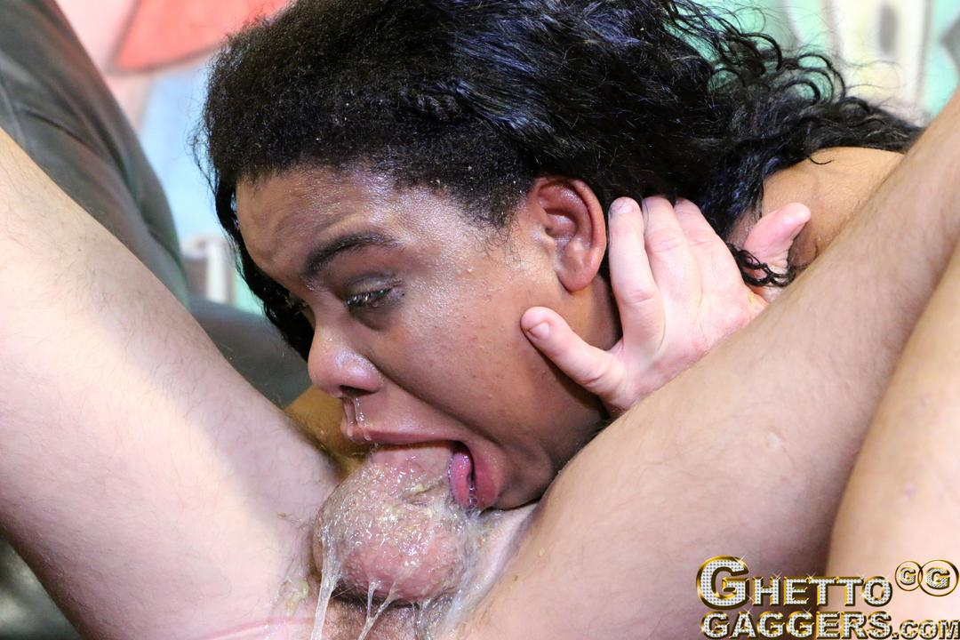 Black whore anal and gag