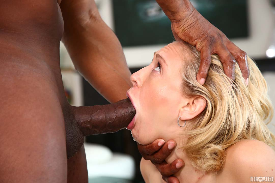 Ripping her cunt with black cock